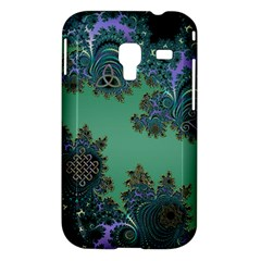 Celtic Symbolic Fractal Design in Green Samsung Galaxy Ace Plus S7500 Hardshell Case