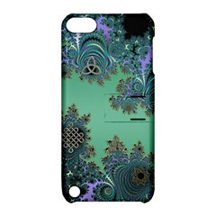 Celtic Symbolic Fractal Design in Green Apple iPod Touch 5 Hardshell Case with Stand