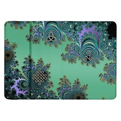 Celtic Symbolic Fractal Design In Green Samsung Galaxy Tab 8 9  P7300 Flip Case