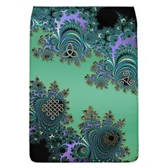 Celtic Symbolic Fractal Design in Green Removable Flap Cover (Large)