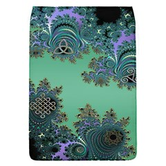 Celtic Symbolic Fractal Design in Green Removable Flap Cover (Small)
