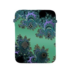 Celtic Symbolic Fractal Design in Green Apple iPad Protective Sleeve