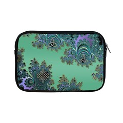 Celtic Symbolic Fractal Design in Green Apple iPad Mini Zippered Sleeve