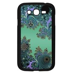 Celtic Symbolic Fractal Design in Green Samsung Galaxy Grand DUOS I9082 Case (Black)