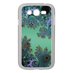 Celtic Symbolic Fractal Design in Green Samsung Galaxy Grand DUOS I9082 Case (White)