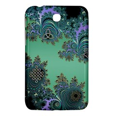Celtic Symbolic Fractal Design in Green Samsung Galaxy Tab 3 (7 ) P3200 Hardshell Case