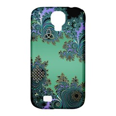 Celtic Symbolic Fractal Design In Green Samsung Galaxy S4 Classic Hardshell Case (pc+silicone)