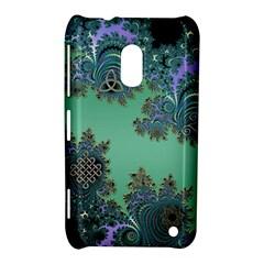 Celtic Symbolic Fractal Design in Green Nokia Lumia 620 Hardshell Case