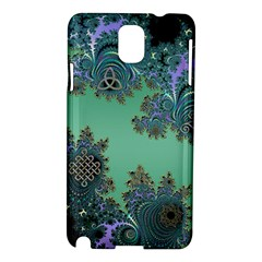 Celtic Symbolic Fractal Design in Green Samsung Galaxy Note 3 N9005 Hardshell Case