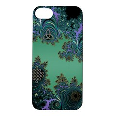 Celtic Symbolic Fractal Design in Green Apple iPhone 5S Hardshell Case