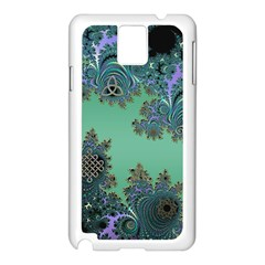 Celtic Symbolic Fractal Design in Green Samsung Galaxy Note 3 Case (White)