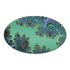 Celtic Symbolic Fractal Magnet (Oval)