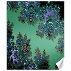 Celtic Symbolic Fractal Canvas 8  x 10  (Unframed)