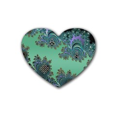 Celtic Symbolic Fractal Drink Coasters (Heart)