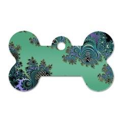 Celtic Symbolic Fractal Dog Tag Bone (Two Sided)