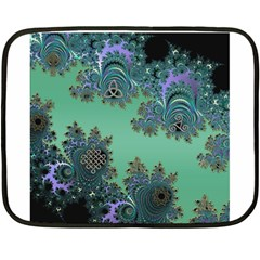 Celtic Symbolic Fractal Mini Fleece Blanket (two Sided)