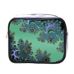 Celtic Symbolic Fractal Mini Travel Toiletry Bag (One Side)