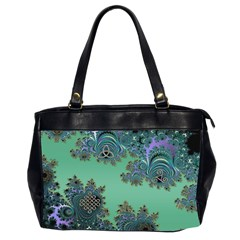 Celtic Symbolic Fractal Oversize Office Handbag (Two Sides)