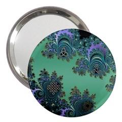 Celtic Symbolic Fractal 3  Handbag Mirror