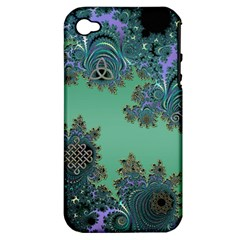 Celtic Symbolic Fractal Apple Iphone 4/4s Hardshell Case (pc+silicone)