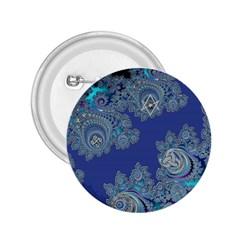 Blue Metallic Celtic Fractal 2.25  Button