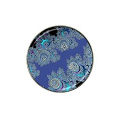 Blue Metallic Celtic Fractal Golf Ball Marker (for Hat Clip)