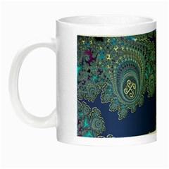 Blue Metallic Celtic Fractal Glow in the Dark Mug