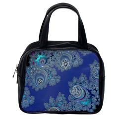 Blue Metallic Celtic Fractal Classic Handbag (One Side)