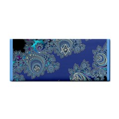 Blue Metallic Celtic Fractal Hand Towel