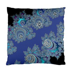Blue Metallic Celtic Fractal Cushion Case (two Sided)