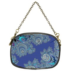 Blue Metallic Celtic Fractal Chain Purse (Two Sided)
