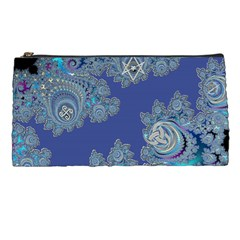Blue Metallic Celtic Fractal Pencil Case