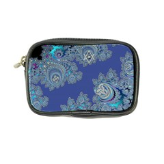 Blue Metallic Celtic Fractal Coin Purse