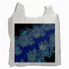 Blue Metallic Celtic Fractal Recycle Bag (Two Sides)