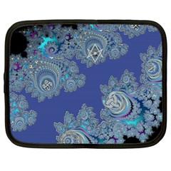 Blue Metallic Celtic Fractal Netbook Sleeve (xl)