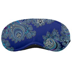 Blue Metallic Celtic Fractal Sleeping Mask