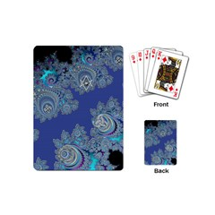 Blue Metallic Celtic Fractal Playing Cards (mini)
