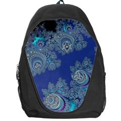 Blue Metallic Celtic Fractal Backpack Bag