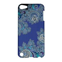 Blue Metallic Celtic Fractal Apple iPod Touch 5 Hardshell Case