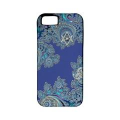 Blue Metallic Celtic Fractal Apple iPhone 5 Classic Hardshell Case (PC+Silicone)