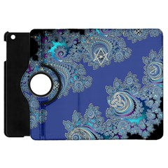Blue Metallic Celtic Fractal Apple iPad Mini Flip 360 Case