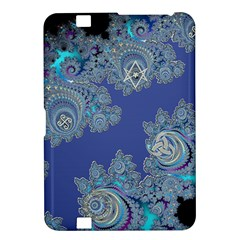 Blue Metallic Celtic Fractal Kindle Fire HD 8.9  Hardshell Case