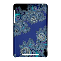 Blue Metallic Celtic Fractal Google Nexus 7 (2012) Hardshell Case