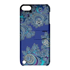 Blue Metallic Celtic Fractal Apple iPod Touch 5 Hardshell Case with Stand