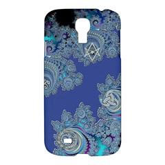Blue Metallic Celtic Fractal Samsung Galaxy S4 I9500/i9505 Hardshell Case