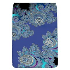 Blue Metallic Celtic Fractal Removable Flap Cover (Small)