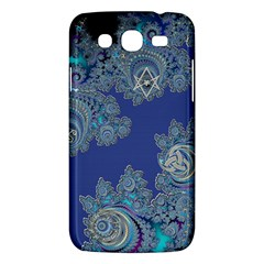 Blue Metallic Celtic Fractal Samsung Galaxy Mega 5.8 I9152 Hardshell Case