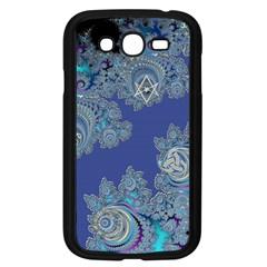 Blue Metallic Celtic Fractal Samsung Galaxy Grand DUOS I9082 Case (Black)