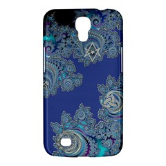 Blue Metallic Celtic Fractal Samsung Galaxy Mega 6 3  I9200 Hardshell Case