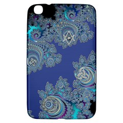 Blue Metallic Celtic Fractal Samsung Galaxy Tab 3 (8 ) T3100 Hardshell Case